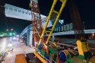 首都高速道路 中央環状品川線 大井JCT鋼桁架設工事(夜間通行止:湾岸線西行き)